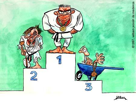Dessin podium judo